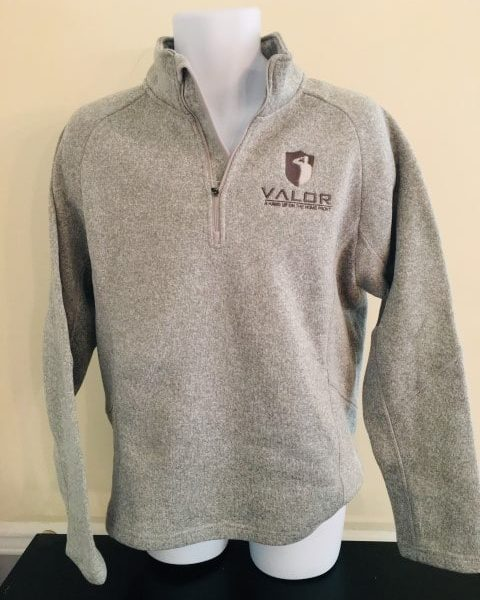 Grey Knit 100% polyester with grey logo