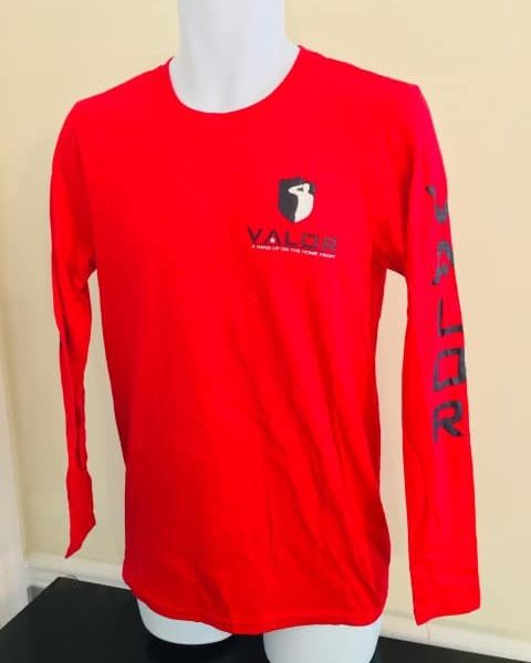 Red Long Sleeve Shirt 100% cotton