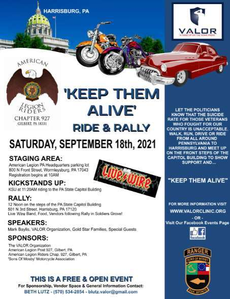 Keep Them Alive Ride and Rally – VALOR Clinic Foundation at the Capitol